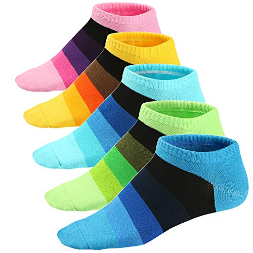 Ueither Calze da Uomo Coloratissimi in Cotone Stilisti Sportive Sneaker Calzini Corti Fantasia dal Design Comodo 39-46 (Colore 8)