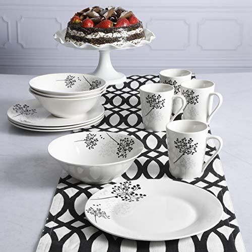 Gibson Netherwood Round Dinnerware Set, Service for 4 (12) Piece, White