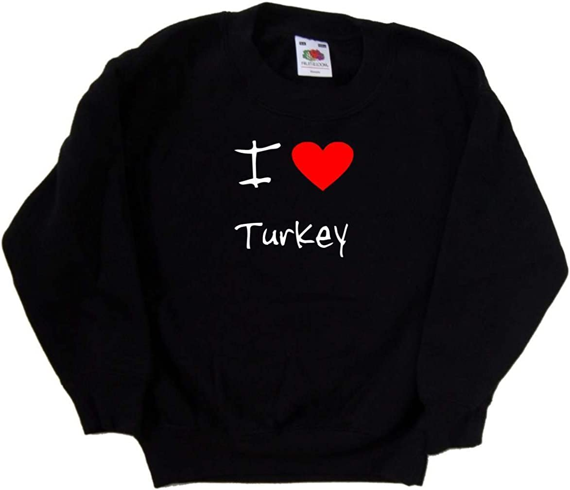 I Love Heart ! Super beauty product restock quality top! Turkey Albuquerque Mall Kids Sweatshirt Black