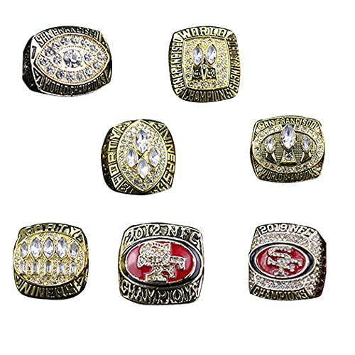 CLCL NFL San Francisco 49ers Set de 7 años Champion Ring Set, Anillo De Campeonato Replica Anillo, Colección para Hombre Regalo, Anillo de réplica para Aficionados Colección,Without Box,11#