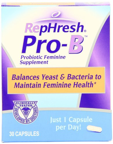 RepHresh Pro-B Probiotic Feminine Supplement, 60-Count Pack (2 pack)