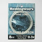 Aventik Hemingway's Tapered Hand Made Woven Furled Leader Tapered Leader Fluorocarbon Tapered Leader 8ft 0-3X Proudly from Europe