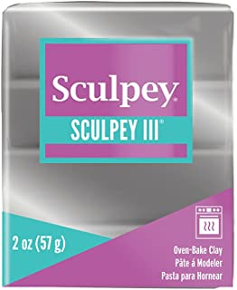 Sculpey Art Clay III, Silver