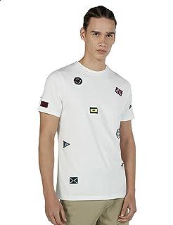 Splash Embroidered Short Sleeves Crew Neck Cotton T-shirt for Men S - 2725605529869