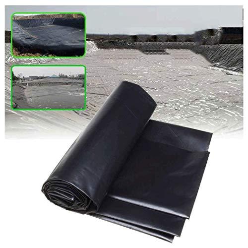 Revestimiento embellecedor para estanques, lona negra de polietileno de alta densidad, utilizada...