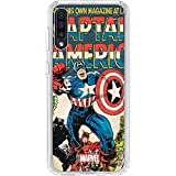 Skinit Clear Phone Case for Galaxy A50 - Officially Licensed Marvel/Disney Captain America Big Premier Issue Design