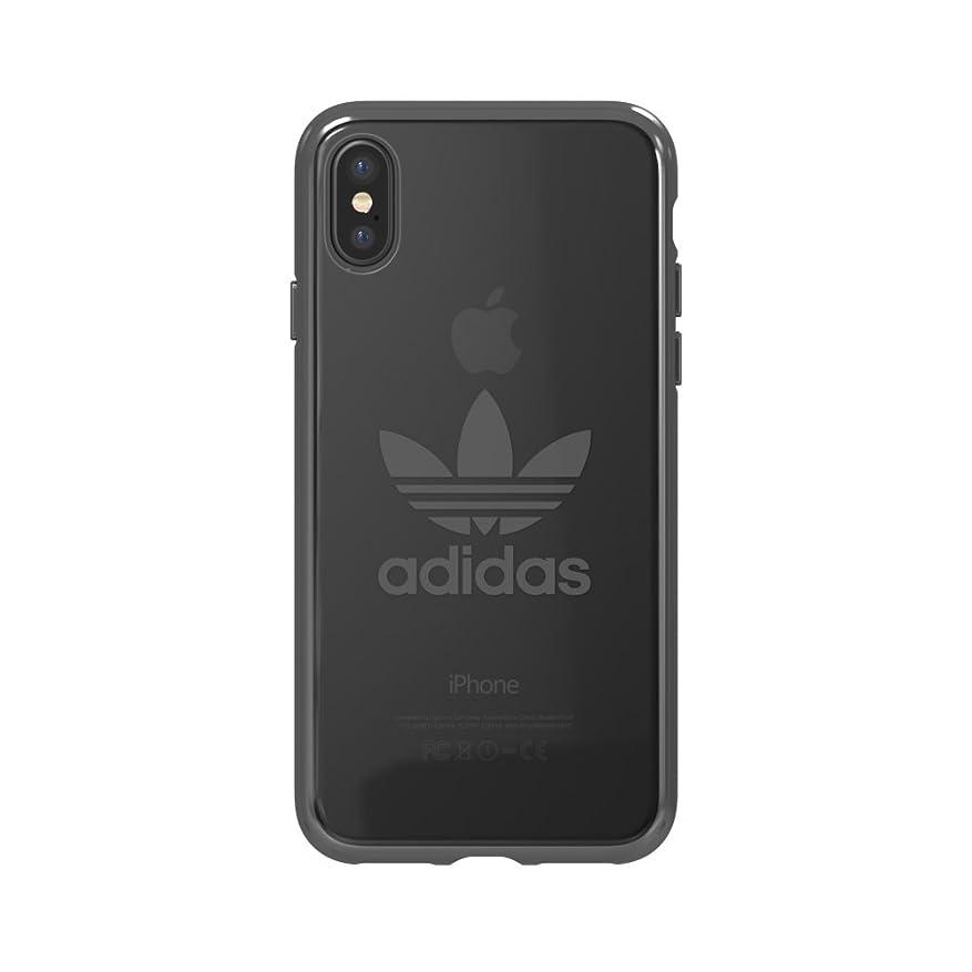 洪水ヘルパー折【アディダス公式ライセンスショップ】アディダスオリジナルス iPhoneXケース クリア x ガンメタル ロゴ [adidas Originals iPhone X Clear x Gunmetal logo]