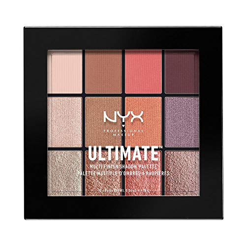 NYX Professional Makeup Ultimate Multi-Finish Shadow Palette, Lidschatten-Palette, Sugar High 06