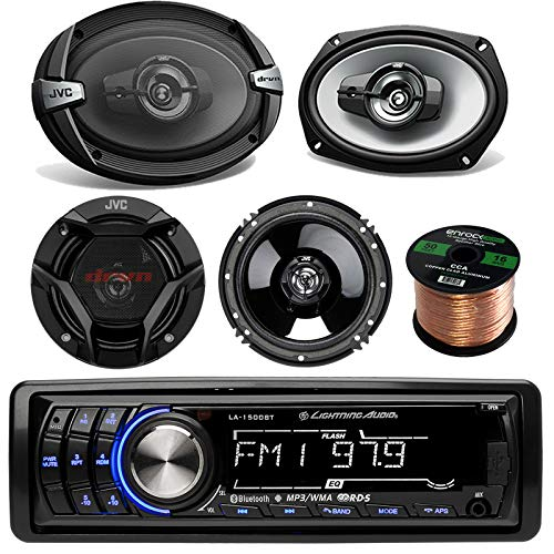 Amazing Deal Lightning Audio LA1500BT Car Bluetooth MP3 Stereo Receiver Bundle Combo With 2x JVC DR-...