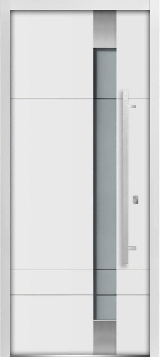 Front Exterior Prehung Frosted Glass Steel inches Special discount Campaign x Door 80 L 36