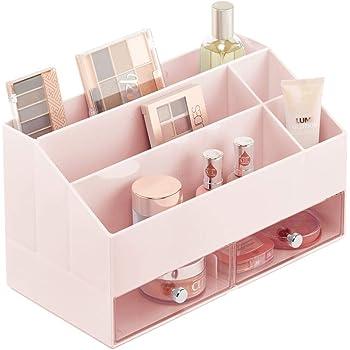 mDesign Organizador de maquillaje – Caja de almacenaje con 5 ...