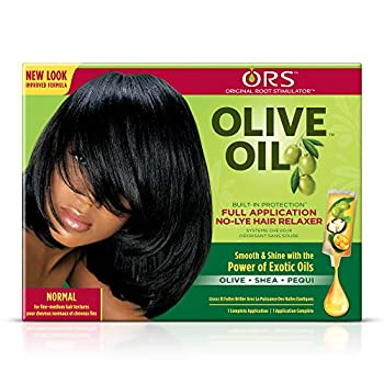 ORS Olive Oil Built-In Protection Full Application No-Lye Hair Relaxer - Normal Strength  Pack of 3