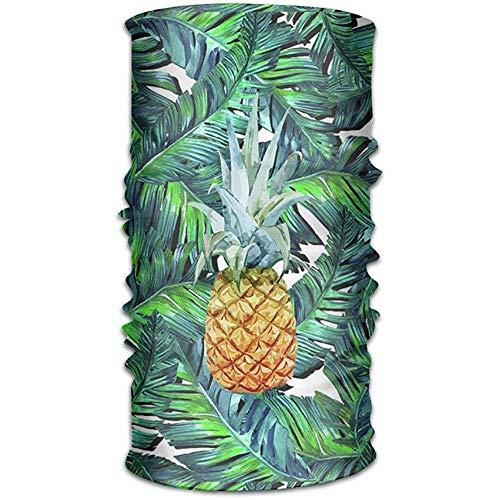 Annays Bandanas Lush Zesty Design ananas 16-in-1 magische sjaal, gezichtsmasker, vismasker, dun ski-masker, nek Warmer Balaclava Bandana