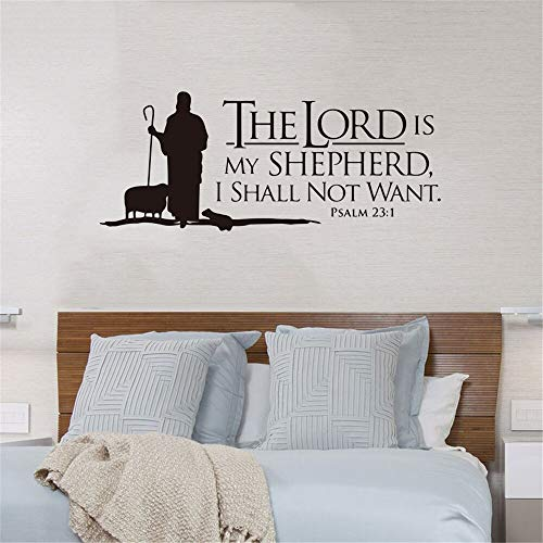 Psalm 23 Jehova ist Mein Hirte Vinyl Wand Stickerdecals Poster Wohnzimmer Schlafzimmer Wohnkultur Umweltschutz Pvc90X36Cm