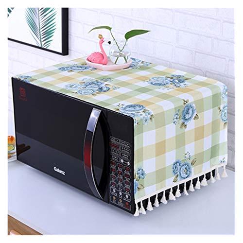 JINAN Housse pour four à micro-ondes avec 2 pochettes, anti-poussière 35 x 95 cm, style dentelle polyester (couleur : AF, taille : 95 x 35 cm)
