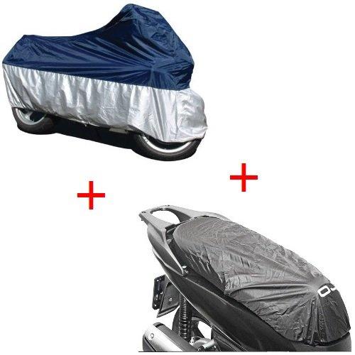 Funda para Suzuki Burgman 200 Executive 2001-2019 + Funda para sillín Impermeable Talla XL Universal para Moto Scooter Oferta