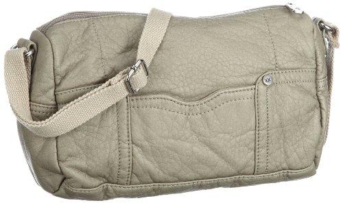 Mexx Damen Garment Washed Camera Bag Umhängetaschen, Braun (SILVER KHAKI 278), 25x15x9 cm