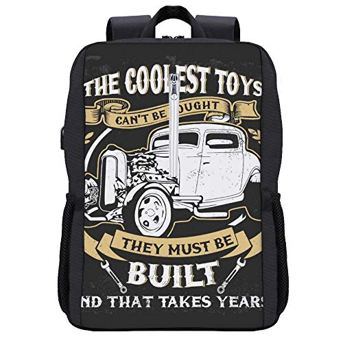 The Coolest Toys Hotrods Backpack Daypack Bookbag Laptop School Bag with...