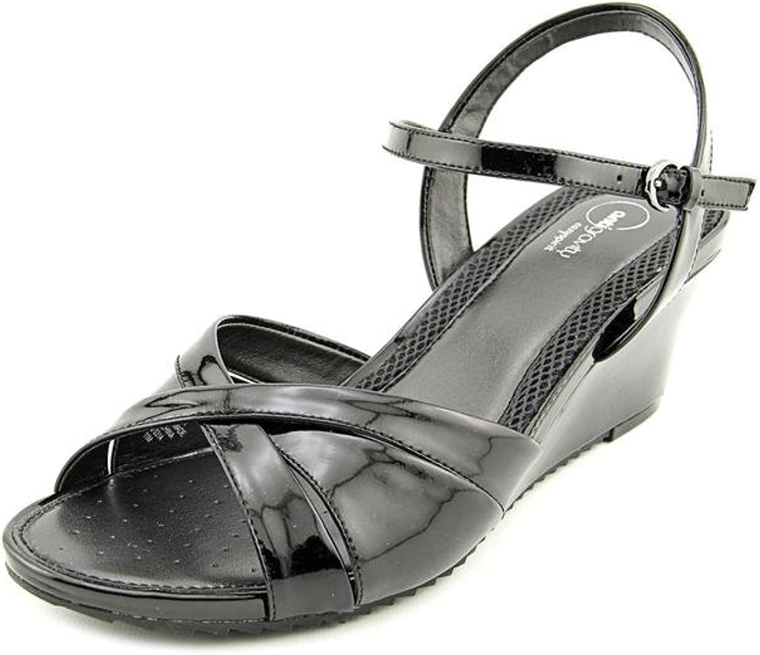 Easy Spirit Laralee Womens US Size 11 Black Wedge Sandals shoes