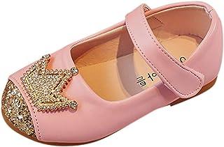 WEXCV kleine kinderen strass kroon baby meisjes sandalen prinses zomer herfst elegant modieus lief anti-slip zachte loopsc...
