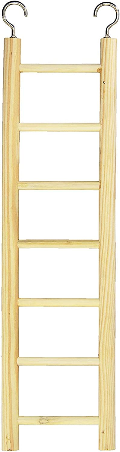 Prevue Pet Products BPV384 Birdie Basics 7Step Wood Ladder for Bird, 12Inch (2)