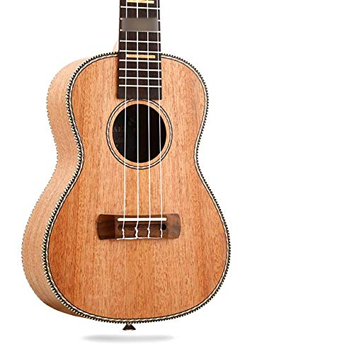 Pearlshop Best Soprano Ukulele Mahogany Four String Small Guitar Great Fun for Adult Kids Beginners