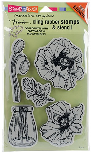 Stampendous Pretty Poppies Stamps