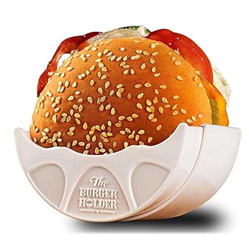 Rosepoem Original Burger Holder, Hygienic Reusable Hamburger Bun Shell, Eco Friendly Mess-Free Alternative to Wax Paper, Aluminum Foil, Tin Foil Sheets, BPA-Free & Dishwasher Safe