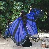 ZCRFYY Mujeres para Mujer Chal Mariposa alas de la Mariposa Dance Mariposa alas para Las Mujeres para Navidad/Halloween/Playa Party/Cosplay/Baile Traje Props 148x185cm,Style f