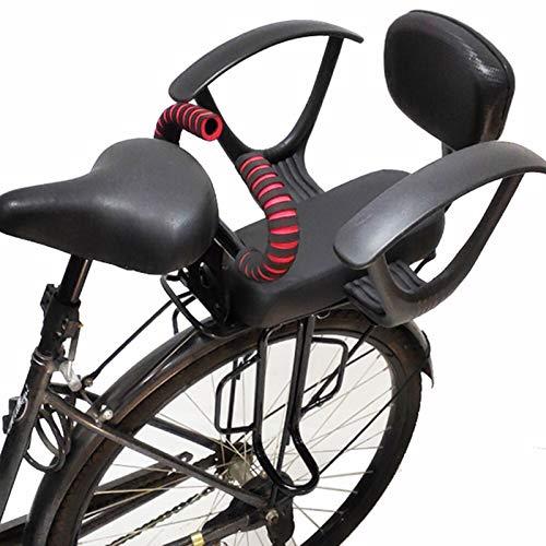 ZCVB Seggiolino Bicicletta Posteriore Bambini, Seggiolini di Sicurezza da MTB con Braccioli Pedali Cintura di Sicurezza Regolabile E Staccabile per Bambini di 2-10 Anni,A