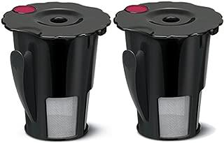 2pcs Coffee Filter Black Reusable Coffee Filter for Keurig 119367 2.0 My K-Cup Updated Model:K200/K300/K400/K500 SERIES,Works with all keurig plus series (2)
