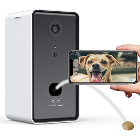 One Size Wood Brown PETKIT MATE WIFI Enabled Night Vision Smart Video Pet Cat Dog Monitor w// Dual Communication Cababilities and 720HD Rotational Camera