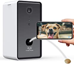 Owlet Home | 1080p Pet Camera with Treat Dispenser & Tossing for Dogs/Cats, WiFi, Live Video, Auto Night Vision, 2-Way Aud...