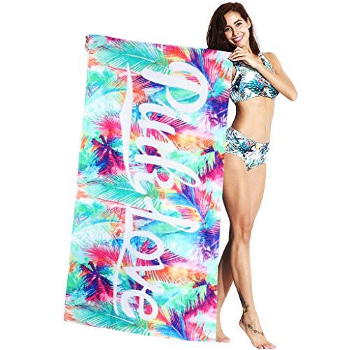 Mujer Toalla de Baño de Playa - Adulto 100% Algodón Secado Rápido Manta de Viaje Bebé Niños Nadando Surf Deporte Bañera Fiesta Cobija Dibujos Animados Impreso