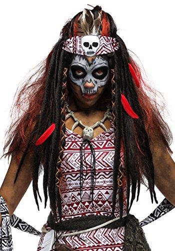 Fun Costumes Adult Voodoo Witch Doctor Wig Women's Cursed Sorceress Wig Standard