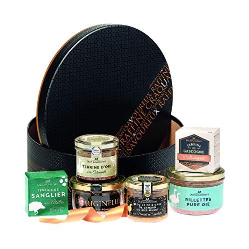 """Ducs de Gascogne - Coffret gourmand """"Sous le Sapin"""" - comprend 6 produits dont un foie gras - spécial cadeau (946455)"""