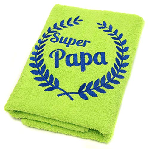 Abc Casa Limes Handtuch Super Papa für der Beste Papa zum Geburtstag, Vatertag, Valentinstag, Jahrestag-Alles Gute Geburtstagsgeschenk