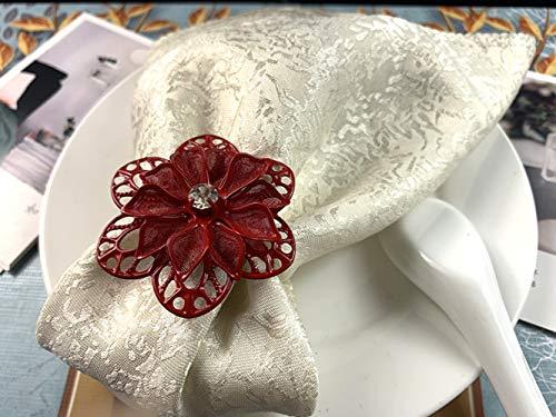 Anillos de servilleta anillos de oro anillos de servilleta oro plata cena Set*12PCS