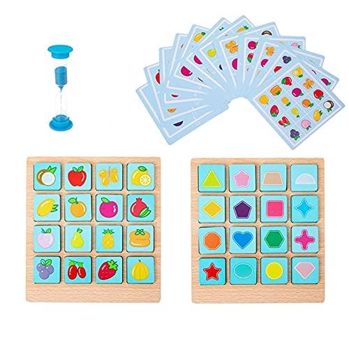 LLSRTE Juego de mesa de forma de juego de animales de interés para niños/niñas regalos de cumpleaños juegos de cerebro juguetes para niños 6-8 niños juegos cerebro edad 3