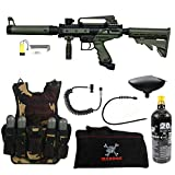 Maddog Tippmann Cronus Tactical Lieutenant Tactical Camo Vest Paintball Gun Package - Black/Tan