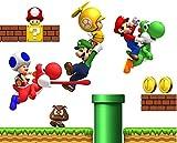 Super Mario Wall Stickers Warehouse Super Mario Bros Luigi Children's Room Decor Wall Sticker
