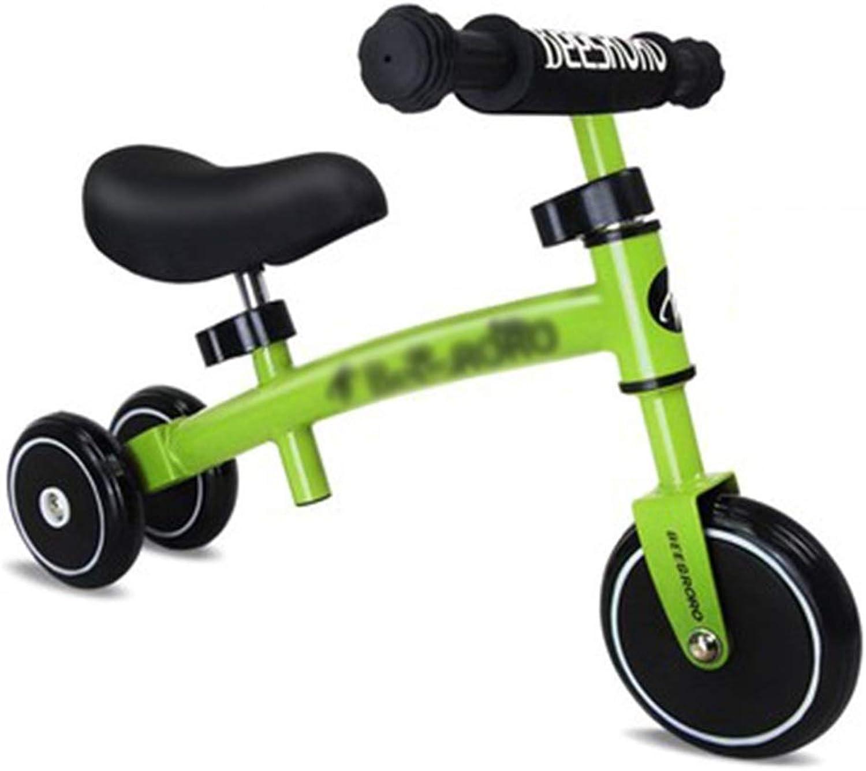 punto de venta SSRS Equilibrio for Niños Scooter de Coche Pedales Pedales Pedales Pedales Coche yo Coche Coche de Juguete 3 Rondas Andador for bebés 1-3 años (Color   verde )  tienda en linea