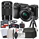 Sony Alpha a6000 Mirrorless Digital Camera w/ 16-50mm Lens, 55-210mm Lens, 2 x 32GB & Advanced Striker Bundle