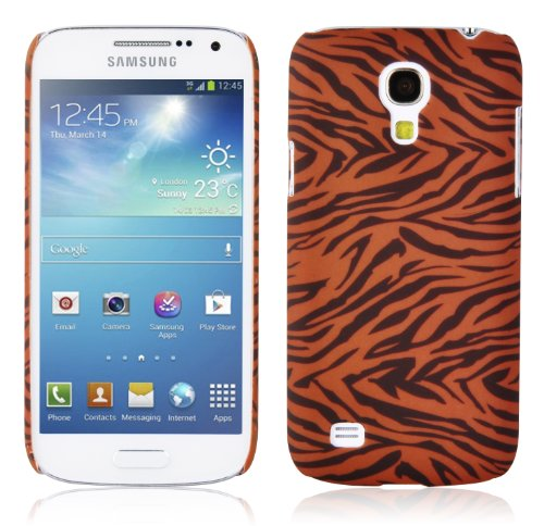 Cadorabo - Hard Cover für Samsung Galaxy S4 Mini - Case Cover Schutzhülle Bumper im Design: Brown Tiger