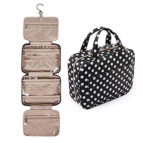 Bolsa de viaje con gancho para colgar, resistente al agua, organizador de viaje para accesorios, champú, contenedor de tamaño completo, artículos de aseo