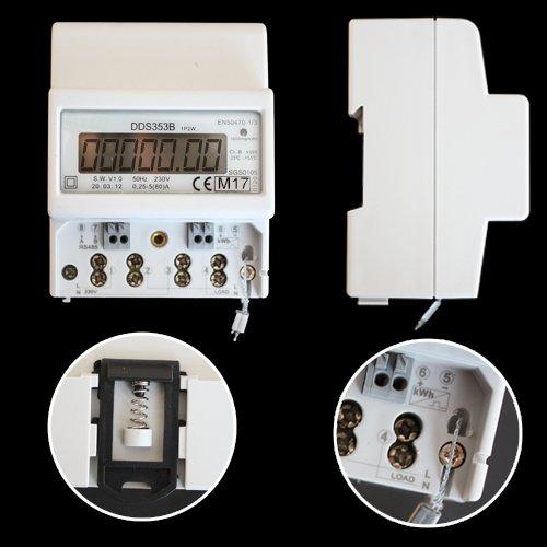 OCS.tec Digitaler MID-Wechselstromzähler Stromzähler Zwischenzähler DIN-Hutschine 220/230V RS485-Modbus & S0-Schnittstelle kWh MID-geeicht ZW4