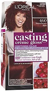 L'Oréal Paris Casting Crème Gloss Semi-Permanent Hair Colour - 460 Strawberry Kiss (Ammonia Free)