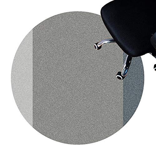 DENG Estera De Escritorio para Alfombras, Esteras De Protección para Pisos para Silla Rodante, Estera De Silla De Computadora para Juegos, Alfombra De Alfombra Redonda(Size:120cm/47.2in,Color:A)