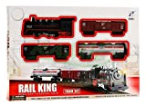 BSD Elektrisch Eisenbahn Set 4 Waggons Rail King -
