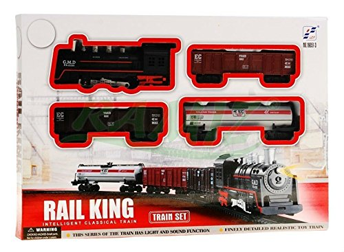 Tren electrico de juguete 4 vagóns RAIL KING